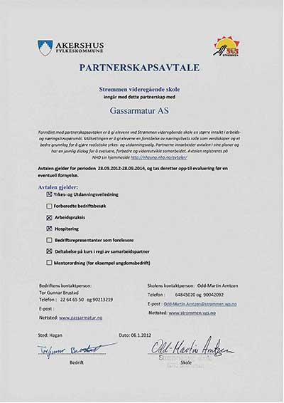 Partnership agreement with Strømmen VGS